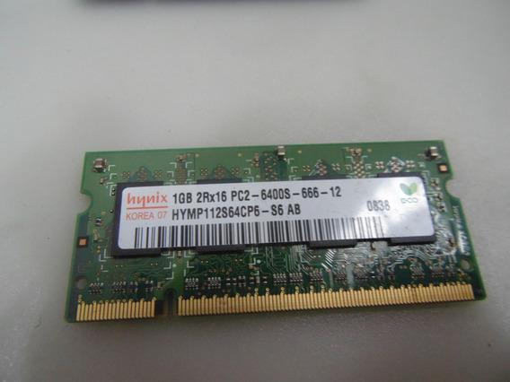 Memória Para Note Dell 1525 Hynyx Ddr2 1gb Pc2-6400s 800mhz