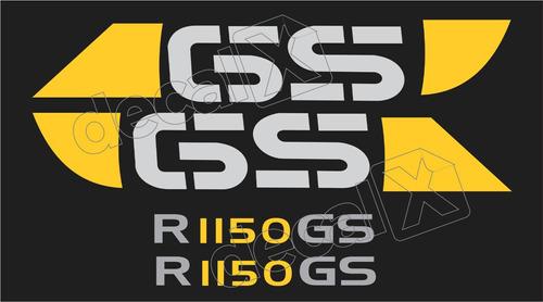 Emblema Adesivo Bmw R1150gs Preta E Amarela Par Bwf1150gs4