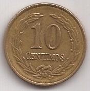 Paraguay Antigua Moneda 10 Centimos Año 1947