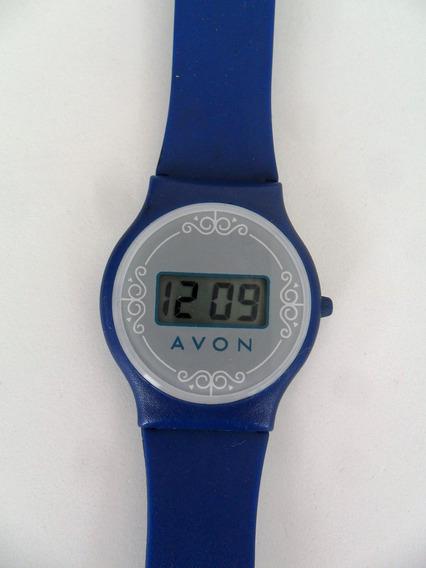 Relógio De Pulso Marca Avon Quartz Azul Antigo Coleção