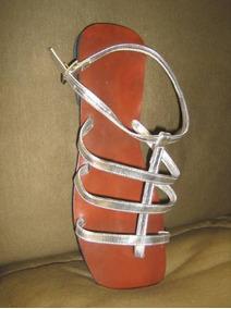 Sd045 - Rasteirinha Gladiador Prata