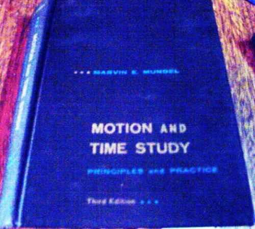 Em Oferta! - Motion And Time Study, De Marvin E. Mundel