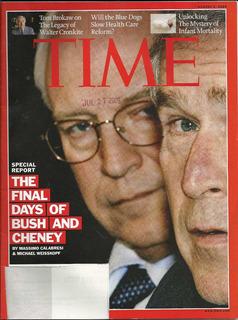 Revista Time: Dick Cheney & George Bush / Morgan Tsvangirie