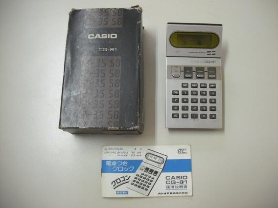 Calculadora Casio Cq 81 Computer Quartz Antiga Com Caixa