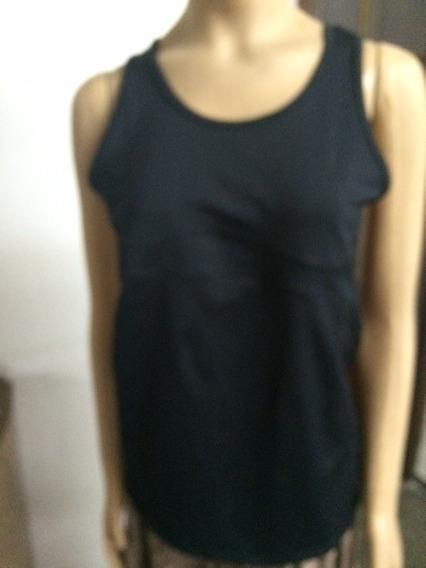 Musculosa Gym Lycra Black Frog Talle M/l