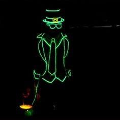 Fio De Luz Neon Verde-limão Hutz 3 Metros + Controle