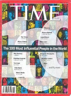 Revista Time: Tilda Swinton / Matt Lauer / Ann Patchett !!