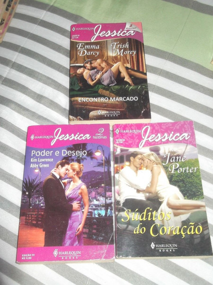Lote 4: Harlequin Books - 3 Livros - Série Jéssica
