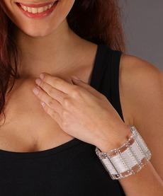 Bracelete Trasnparente Com Swarosvski