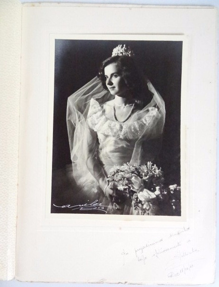 Antiga Fotografia De Casamento Em Álbum, Anos 40!!!