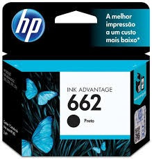 Cartucho Hp 662 - Preto - Original
