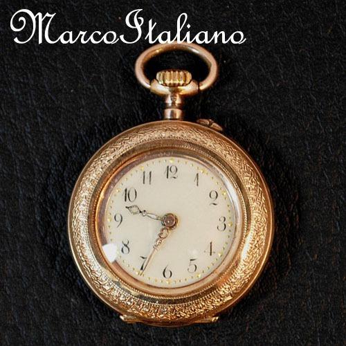 Fechando A Loja! Relógio Pingente De Luxo Ouro Maciço 14k