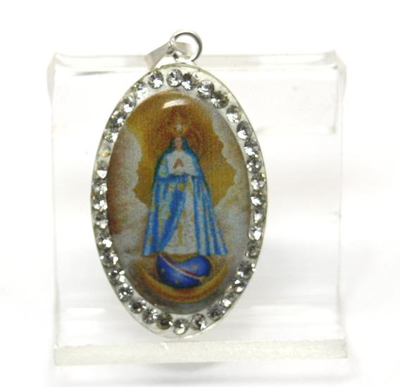 Medalha Pingente Com Imagem De Nossa Senhora Em Prata 925