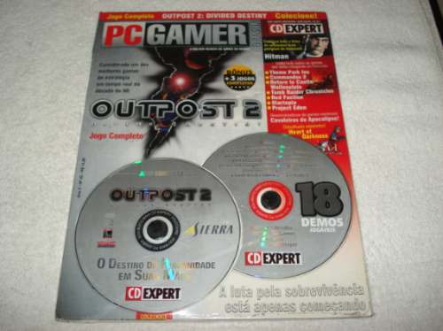 Revista Cd Expert Game Outpost 2 Divided Destiny Completo