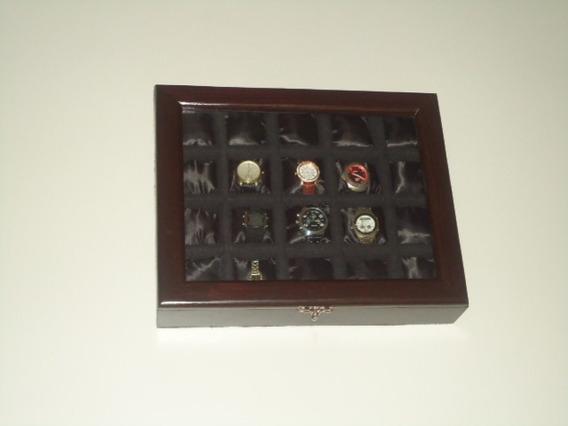 Lindo Estojo Para Relógios Com 12 Relógios Promoção R$110,00
