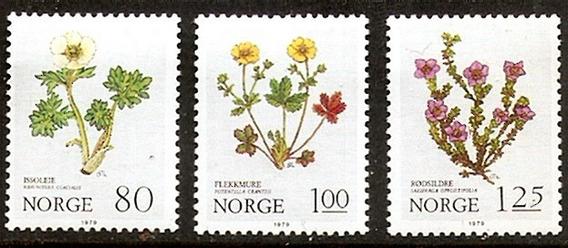 Noruega 1978 - Flores De Montaña - Serie Mint Completa 755/7