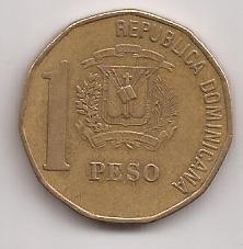 Republica Dominicana Moneda De 1 Peso Año 1997 !!