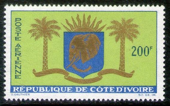 Costa De Marfil Sello Aéreo Nuevo Escudo De Armas Año 1964