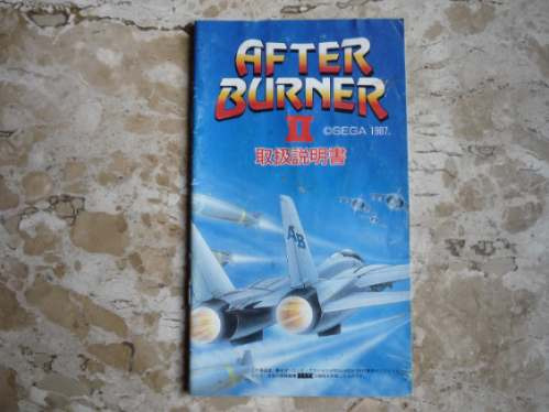 Manual Do Jogo After Burn 2 - Megadrive
