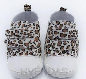 Sapatinho Fashion Bebê Oncinha Animal Print Tamanho 14
