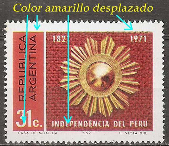 Argentina 901 Gj 1567 Variedad Amarillo Desplazado Inde Perú