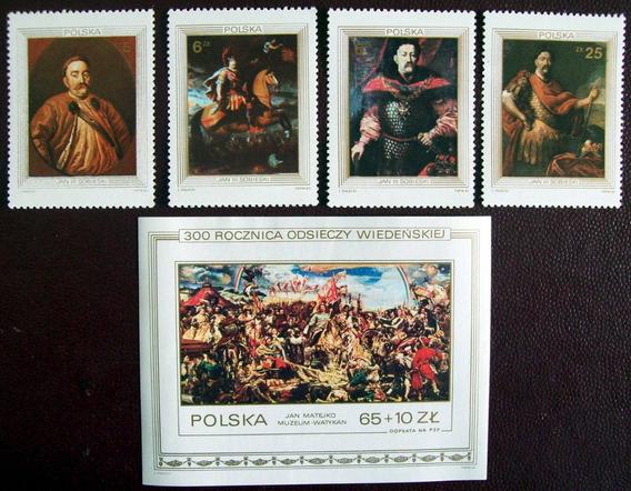 Tema Arte, Polonia - Serie Sc. 2583-87 + Bloque Mint L3181