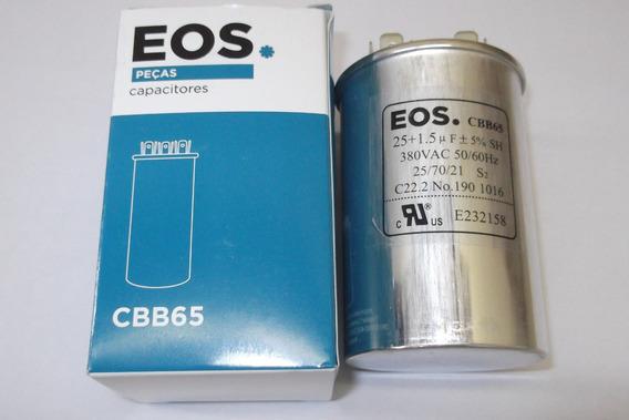 Capacitor Duplo 25+1,5 Uf (5%) Para Ar Split Lg 9000 Btus