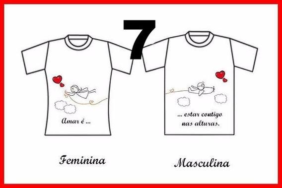 Camisas Pessonalizada Para Casal Branca Poliester