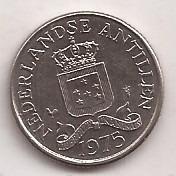 Antillas Holandesas Moneda De 25 Cents Año 1975