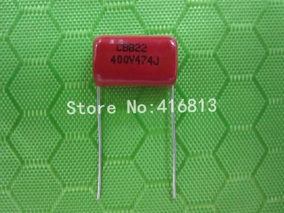 10 Pçs Capacitor Poliester 474j 400v Cbb22