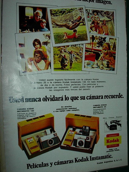 Publicidad Clipping Peliculas Y Camaras Kodak Instamatic