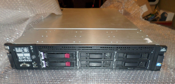 Servidor Hp Proliant Dl380 G7, Intel Xeon Sixcore, 16gb Ram Ddr3, Hd 3,5 Sas 300gb, 4 Portas De Rede Gigabit, Garantia