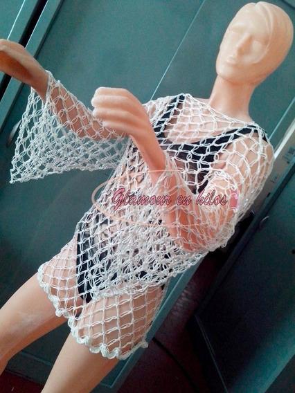 Crop Top Divinooo Remeras Dama Al Crochet En Hilo. Nuevo