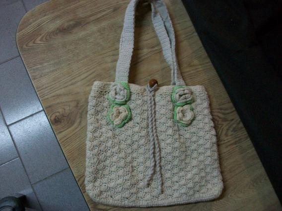 Cartera De Hilo Tejida Al Crochet