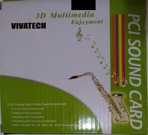 Placa Pci Som 3d Multimédia Vivatech - Nova Na Caixa