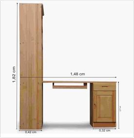 Estante De Livros;escrivaninha;madeira Maciça,pronta Entrega