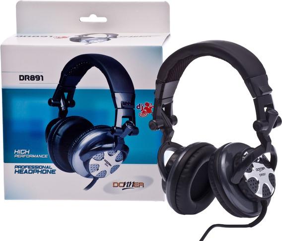 Headphone Ouvido Profissional Dj Donner Dr891 Nca