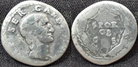 Denário Prata De Galba Um Dos 12 Caesares Romanos Raro