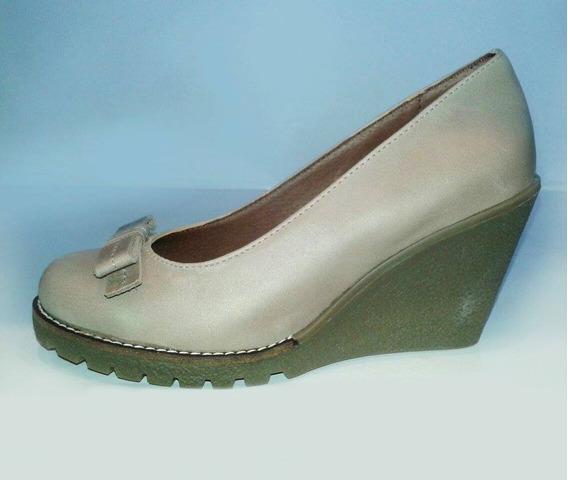 Zapatos Mujer Suela Goma Cuero 100%