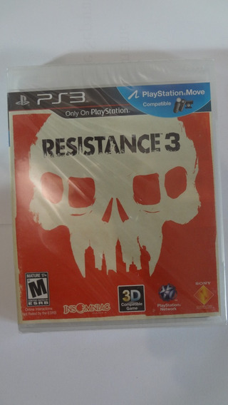 Jogo Ps3 Resistance 3 (3d) (black Label) - Novo E Lacrado