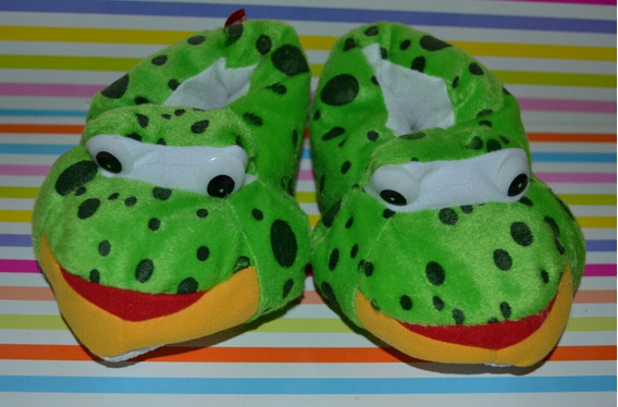 Pantuflas Abrigadas Sapo Talles 28-32. Little Treasure.