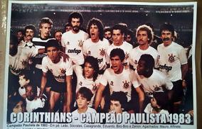 Poster Do Corinthians - Campeão Paulista De 1983