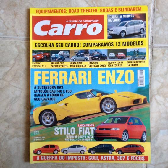 Revista Carro Set2002 N107 Ferrari Enzo E Stilo Fiat Plij