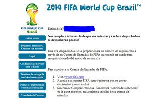 Entradas Mundial Brasil 2014