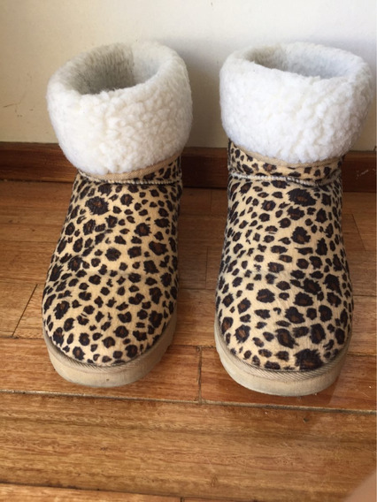 Botas Animal Print Peluchito Corderito