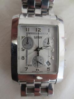 Leroy Chronometro Reloj Caja Y Papeles