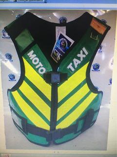Colete Verde Moto Taxi Padrão Nacional