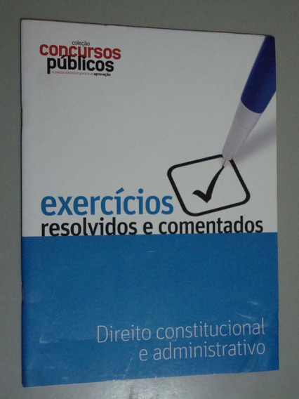Livro Coleção Concursos Públicos Dir. Constitucional E Adm.