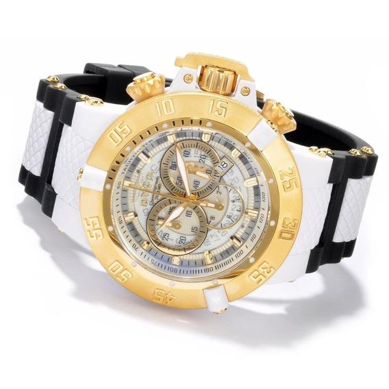 Relógio Invicta Subaqua Crono 0928 Poliuretano Plaque Ouro
