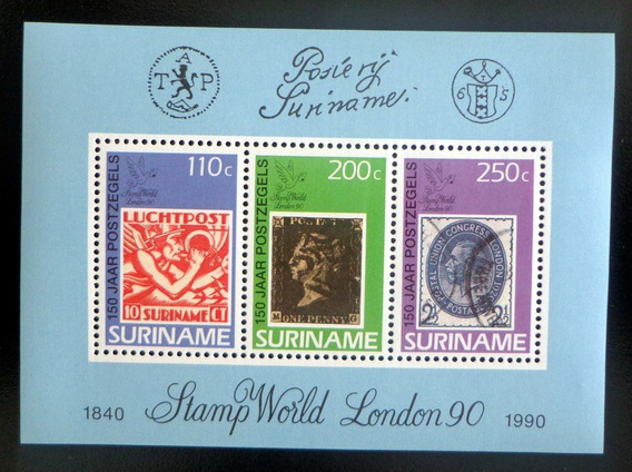 Surinam, Bloque Sc. 860a Expo Londres 1990 Mint L8754